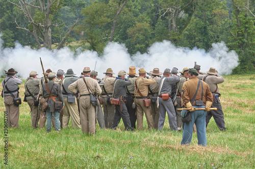 Fototapeta  Infantry rifle firing