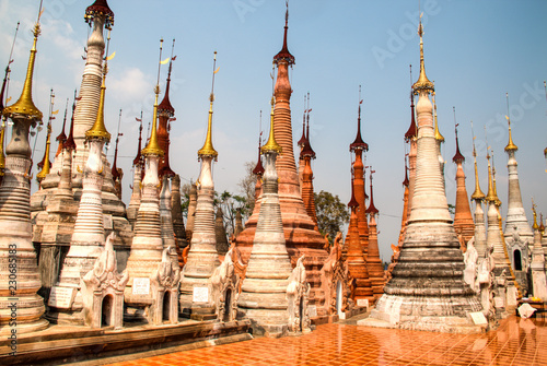 Tuinposter Bedehuis Ancient temple near Inle Lake, one of the top tourist attractions of Myanmar