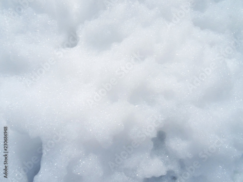 Valokuva  Foam bubbles abstract white background