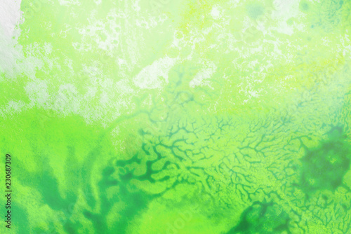 watercolor background divorced, paint green - 230687309