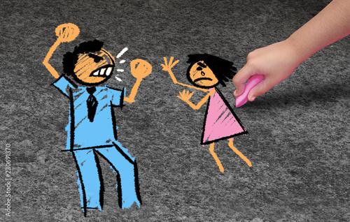 Child Abuse Canvas Print