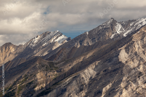 Close up view of the rock Rocky Mountain Banff Alberta
