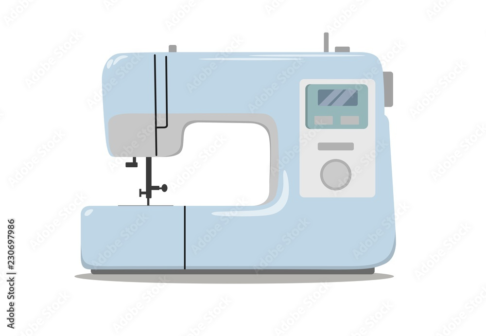 Fototapeta Sewing machine for sewing and embroidery. Home equipment. Vector illustration.