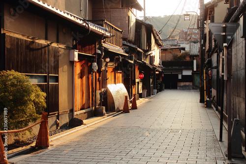 京都 祇園の町並み