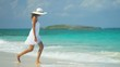 Beautiful Girl Loving Island Lifestyle