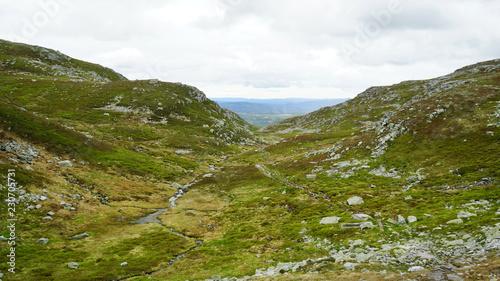 Foto op Plexiglas Wit Landscape in the mountains .