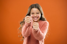 Self Defense Strategies Kids Can Use Against Bullies. Girl Hold Fists Ready Attack Or Defend. Girl Child Cute But Strong. Self Defense For Kids. Defend Innocence. How Teach Kids To Defend Themselves