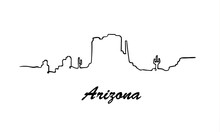 One Line Style Arizona Skyline...
