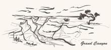 Grand Canyon Hand Drawn Style....