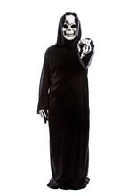 Halloween Costume Of A Skeleto...