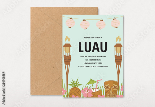 luau party invitation layout buy this stock template and explore