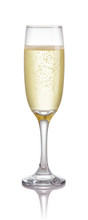 Single Glass Of Champagne Isol...