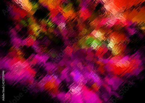 Fotografia, Obraz  Purple Art Venetian Clear Glass Surface - Polychrome Murano Decorative Vitreous