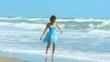 Lower Body Girl Walking Beach