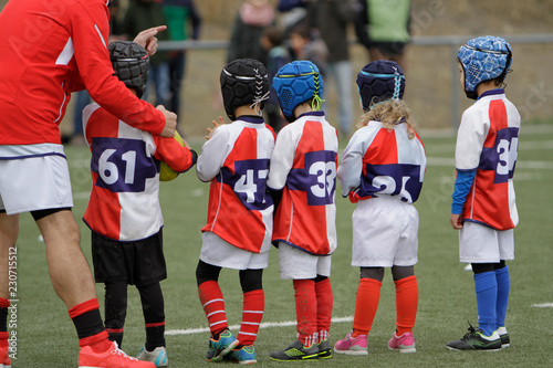 Fototapeta children's rugby team