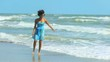 African American Girl Enjoying Island Vacation