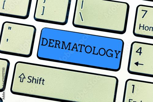 Vászonkép  Handwriting text writing Dermatology