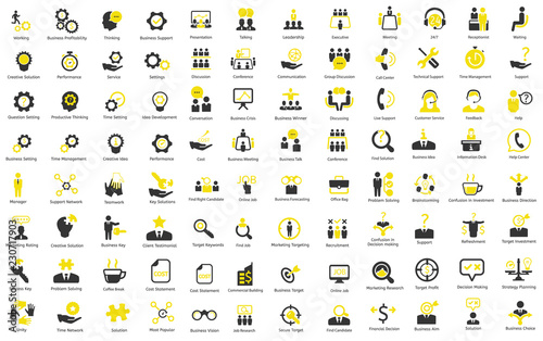 Fotomural  Ceo, HR, Business, Finance vector icons
