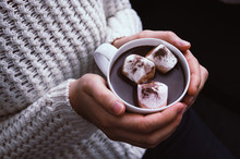 Close Up On Hot Chocolate With...