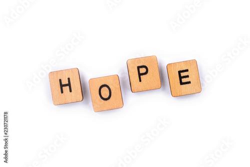 Fotografie, Obraz  The word HOPE