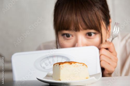 ダイエット・ケーキの誘惑 Tableau sur Toile