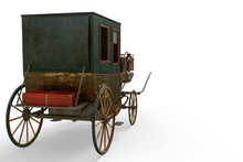 Carriage In A White Background