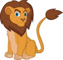 Cartoon Lion Pose