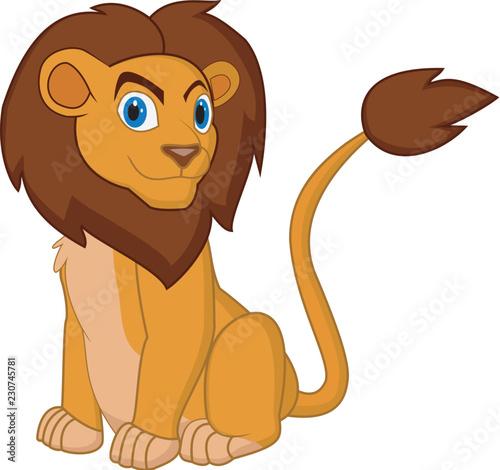 Printed kitchen splashbacks Cats cartoon lion pose