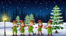 Happy Kid Wearing Elf Costume ...