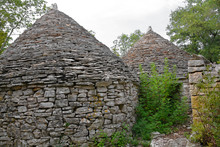 The Twin Kazuni (Kazuni Blizanci) Near Vodnjan In Istria, Croatia. Kazuni Are Traditional Dry Wall Shelters Constucted For Farmers And Shepherds