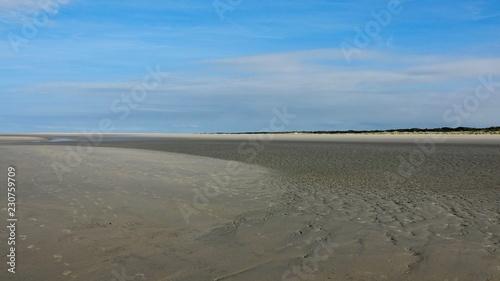 Weite menschenleere Nordseestrände, Zeeland in den Niederlanden