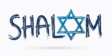Shalom Text Design Shalom Is A Hebrew Word Meaning Peace, Hello And Goodbye Graphic Vector