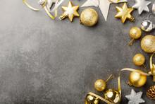 Golden Silver Christmas Deco O...