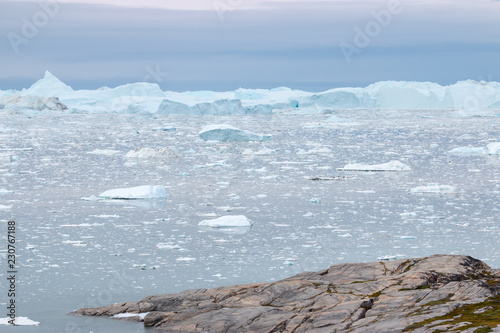 Tuinposter Poolcirkel Diskobucht Grönland