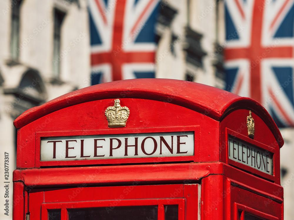 Foto Traditional British Red Box