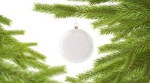 Blank White New Year Ball Hang...