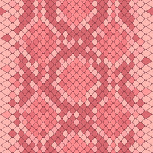 Seamless Pattern With Pink Python Print