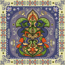 Vector Image. Indian Ornament Pattern.Can Be Used For Designer Wallpapers, For Textile,  Packaging, Printing Or Any Desired Idea. Stylish Ornamental Seamless Patter