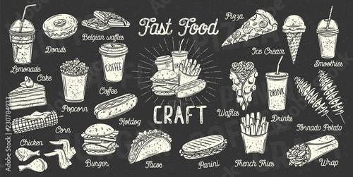 Fotografía Fast food menu