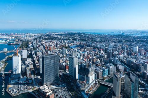 Fotografia  (神奈川県ー都市風景)高層展望台から見る横浜の風景3