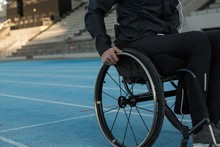 Disabled Athletic Moving With ...
