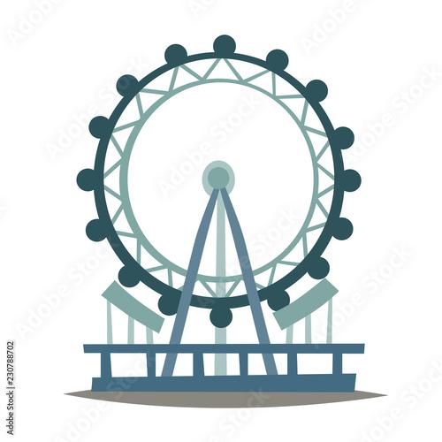 Fototapeta London eye vector Illustration