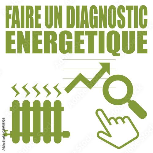 Canvas Print Logo faire un diagnostic énergétique.