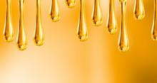 Liquid Drops Of Motorcycle Oil...