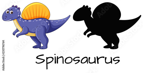 Set of spinosaurus design