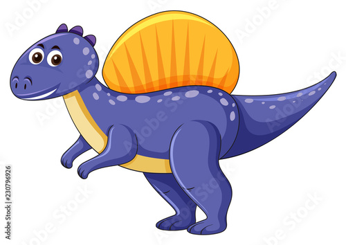 Spinosaurus dinosaur on white background