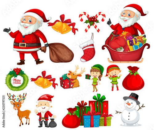 Set of christmas element
