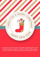 Christmas, New Year Greeting Card, Invitation.