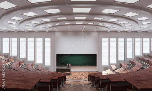 Εκτύπωση καμβά Inside an Auditorium 3d rendering