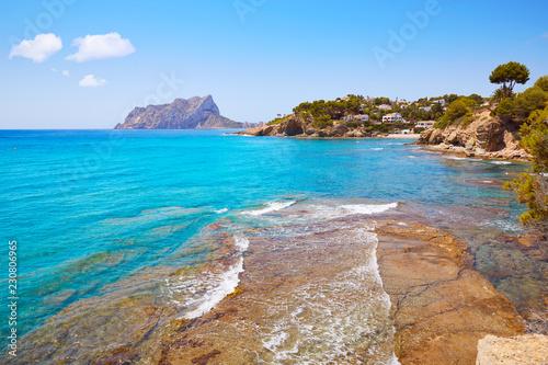 Keuken foto achterwand Kust Cala Pinets beach in Benissa Alicante Spain